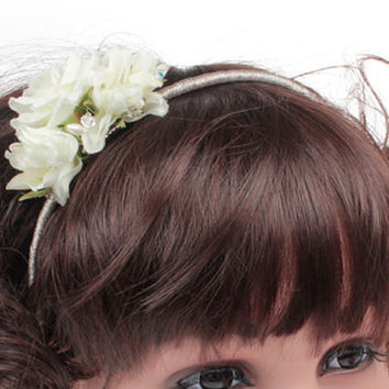 Childs Wedding Flower Alice Band, Childrens Headdresses, Bridesmiad Tiara, Flower Girls Tiara, Communion Headdress