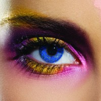 Colour Vision Glimmer Blue Coloured Contacts