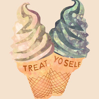 Treat Yo' Self Art Print by Kanika Mathur
