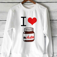 I Heart Nutella sweater unisex adults