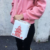 Chinese Takeout Box Messenger Bag