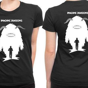 CREYH9S Imagine Dragons Human Shadows As A Monster 2 Sided Womens T Shirt
