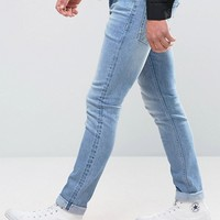 ASOS Selvage Super Skinny Jeans In Light Blue at asos.com