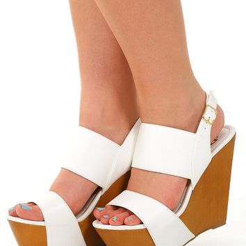 Report For Cutie Wedges: White