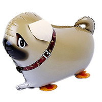 Miyaya® Walking Pet Balloon Cute Pug Dog Animal Air Walker Helium Foil Balloon For Children Kids Fun Party