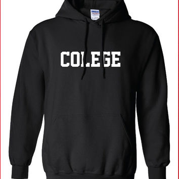 college colege stupid dumb Funny hoodie hooded sweatshirt sweater Mens Ladies Womens Modern university geek nerd can't spell Tee ML-194