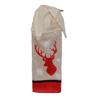 Deer Towel Christmas Hand Towel Christmas Decor Kitchen Gift Holiday Decor Dish Towel Tie on Towel Gift For her Snowflake Tea Towel