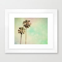 Palm Trees Photography - Beach photograph - Pastel Rainbow Colors - Modern Wall Print - California photo - wall Print - Beach House decor