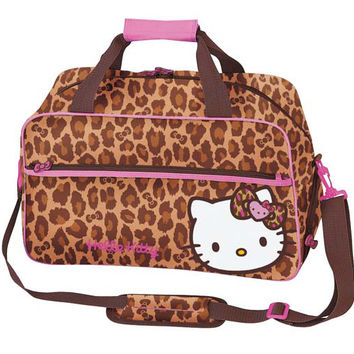 Hello Kitty Leopard Overnight Tote