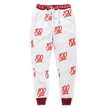Hot Sale 2017 3D Print Emoji Pants Men/Women's Joggers Casual Women Long Joggers Pants