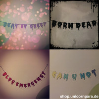 Custom Drippy Text Glitter Message Garland