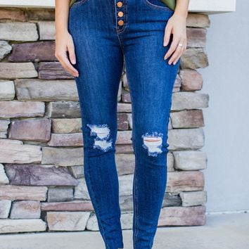 Button Up Skinny Jean