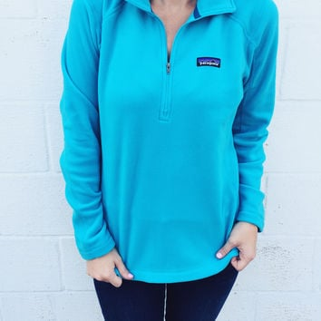 Patagonia Women's Micro D Quarter Zip Fleece- Ultramarine