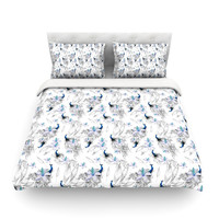 "Danii Pollehn ""Peacock Fun"" Animal Pattern Featherweight Duvet Cover"