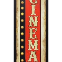 Crystal Art Gallery 'Cinema' LED Light-Up Marquee Sign - Red