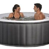 Swim Time Portable Inflatable Spa - Black/Gray (Discontinued by Manufacturer)
