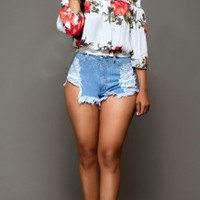 'LILLY' Off the Shoulder Blouse