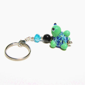 Cute Turtle Keychain Keyfob Under 10, New 1st Time Driver Backpack, Purse, Planner, Zipper Pull Charm Gift For Her Mom loUiSiAnaCre8ions
