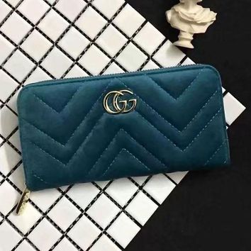 DCCK GUCCI Women Fashion Leather Zipper Wallet Purse-2