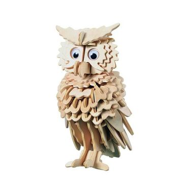 Toys For Children 3D Puzzle Diy Wooden Owl Puzzle/ Magical Animals