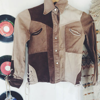 Vintage Children's Pearl Snap From The 1970's // Western Wear // Desert Dweller // Retro Boy's Clothing // Southwestern