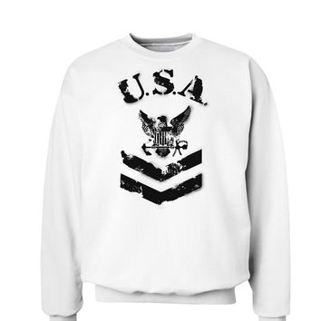 USA Military Navy Stencil Logo Sweatshirt