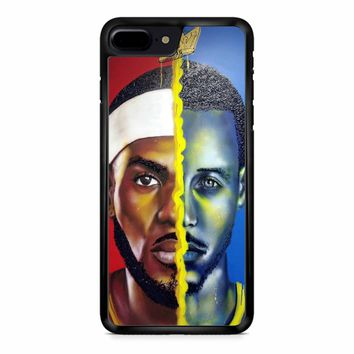 Lebron James Vs Steph Curry Painting iPhone 8 Plus Case