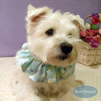 Easter Bunnies Dog Scrunchie Neck Ruffle, Easter Dog Scrunchie
