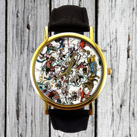 Constellation Watch | Astrology Watch | Ladies Watch | Mens Watch | Gift Idea  | Custom Watch | Fashion Accessory | Zodiac Figures