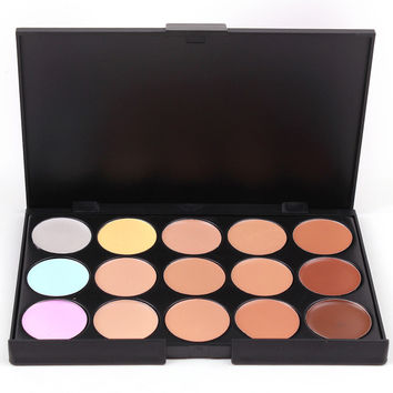 15 Colors Concealer Contour Face Cream Makeup Palette