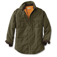Flannel Lined Bush Shirt / Perfect Flannel-Lined Long-Sleeved Bush Shirt -- Orvis