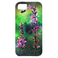Pink Flowers And Bee Against the World iPhone 5 iPhone SE/5/5s Case