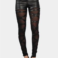 Mesh Band Legging - Black