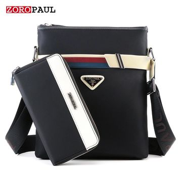 ZOROPAUL 2017 New Fashion Business Oxford Designer Handbags Men's Messenger Bags Male Black Crossbody Vintage Shoulder Man Bag