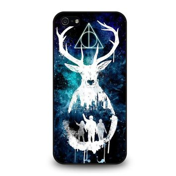 DEATHLY HALLOWS HARRY POTTER AQUARELL iPhone 5 / 5S / SE Case