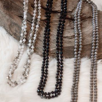 Crystal Bead Wrap Necklace | 3 colors