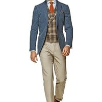 Jacket Blue Plain Copenhagen C741i | Suitsupply Online Store