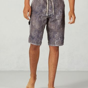 True Religion Andrew Big T Indigo Mens Boardshort - Indigo Crackle