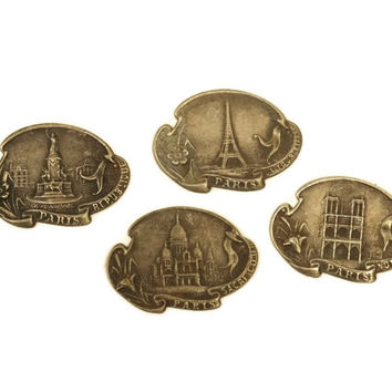 Paris Souvenir Charms. French Jewelry Findings. France Paris Decor.