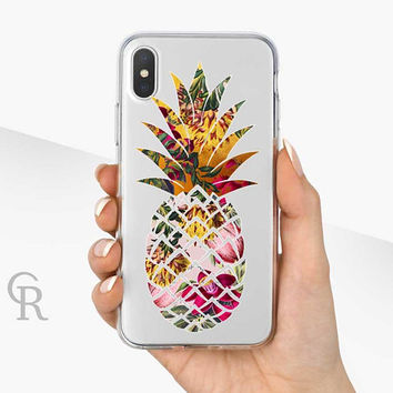 Pineapple Phone Case - Clear Case - For iPhone 8 - iPhone X - iPhone 7 Plus - iPhone 6 - iPhone 6S - iPhone SE Transparent - Samsung