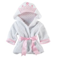 Baby Aspen Little Princess Hooded Spa Robe - Baby Girl, Size: One Size (Pink)