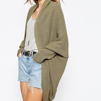 ASOS Cardigan In Cocoon Shape at asos.com