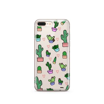 Steph Okits X Milkyway Cases 'Cactus Love' - Clear TPU Case Cover