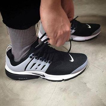 """NIKE""Air Presto Women Men Fashion Running Sport Casual Shoes Sneakers Dark blue"