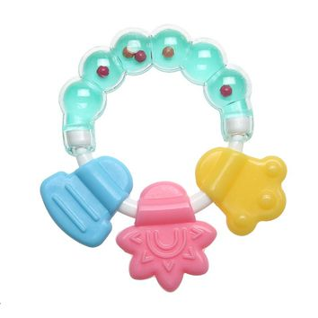 1 Pc Cute Toddler Molar Toothbrush Silicone Baby Rattle Teether Infant Tooth Training Shaking Bell Toys Massager