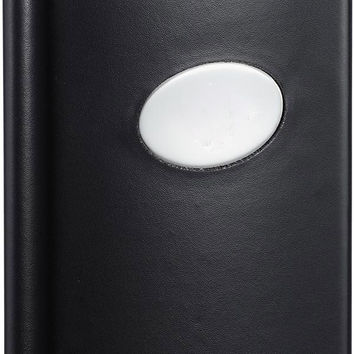 Visol Frank Black Leather Liquor Flask - 8 oz