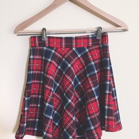 Blake Red Plaid Skirt