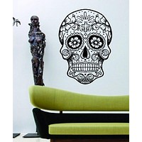 Extra Large Sugarskull Version 5 Sugar Skull Decal Sticker