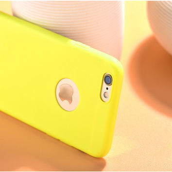 Candy Color Super Thin Camera Protection Phone Case Cover in Sillicon for iPhone 6S & iPhone 6S Plus