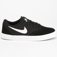 Nike Sb Check Boys Shoes Black/White  In Sizes